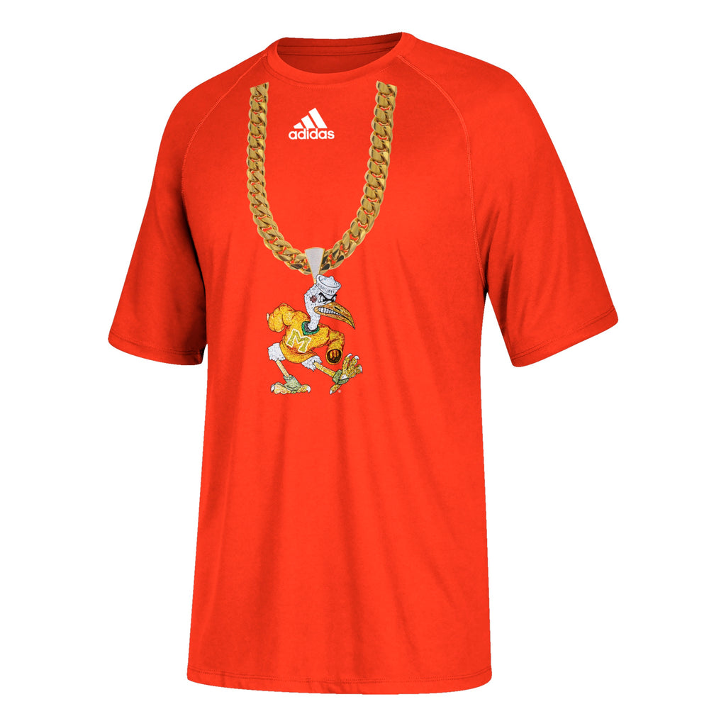 Miami Hurricanes adidas 2018 Youth Sebastian Turnover Chain T-Shirt - Orange
