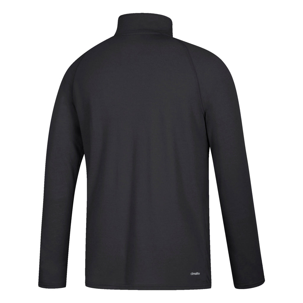 Miami Hurricanes adidas 2018 Total Commitment Ultimate L/S 1/4 Zip Shirt- Black