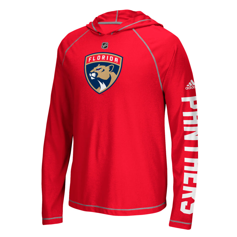 Florida Panthers adidas Red L/S  Ultimate Hoodie Tee