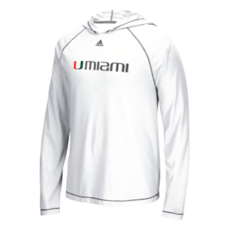 Miami Hurricanes adidas Men s Ultimate Hoodie - White – CanesWear at ... 7f800b97d