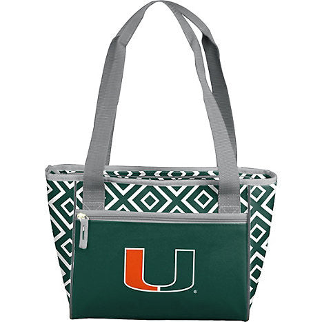 Miami Hurricanes DD 16 Can Cooler Tote - CanesWear at Miami FanWear Bags & Accessories Logo Chair CanesWear at Miami FanWear