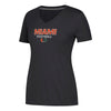 Miami Hurricanes adidas 2018 Women's Sideline Rush Football Ultimate V-Neck T-Shirt - Black