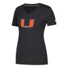 Miami Hurricanes adidas Women's 2018 Neon Elements Ultimate V-Neck T-Shirt