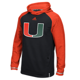 Miami Hurricanes Adidas Player Hoodie - Black - CanesWear at Miami FanWear Men's T-Shirt Adidas CanesWear at Miami FanWear
