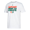 Miami Hurricanes adidas Here To Create Go-To Performance T-Shirt