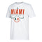 Miami Hurricanes adidas On Court Go-To Performance Basketball T-Shirt - White