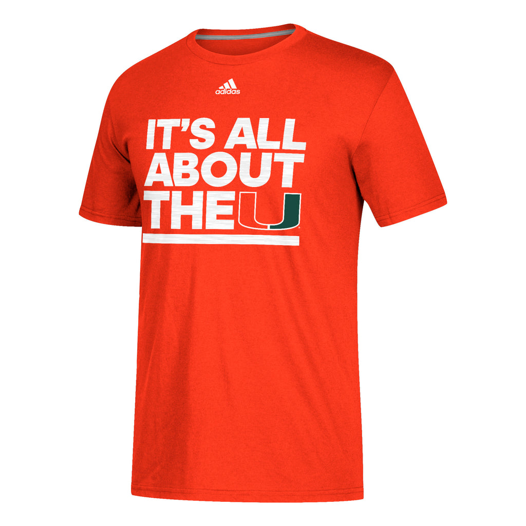 Miami Hurricanes adidas 2018 Sideline Say It Loud Go-To Performance T-Shirt - Orange