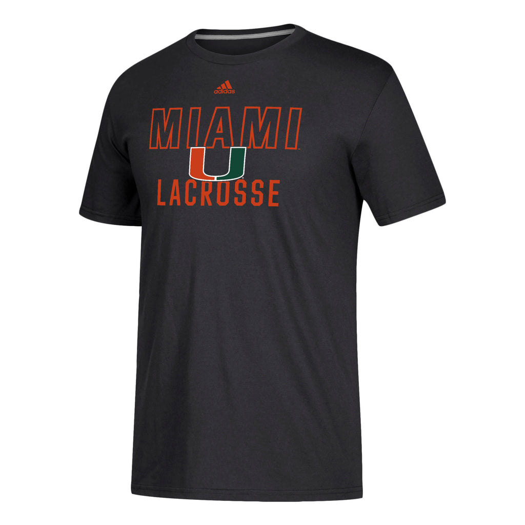 Miami Hurricanes adidas 2019 Lacrosse Go-To Performance T-Shirt - Black