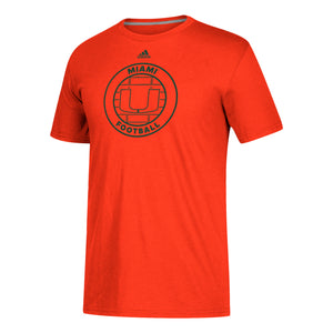 Miami Hurricanes adidas Adi Sport Football Go-To Performance T-Shirt - Orange