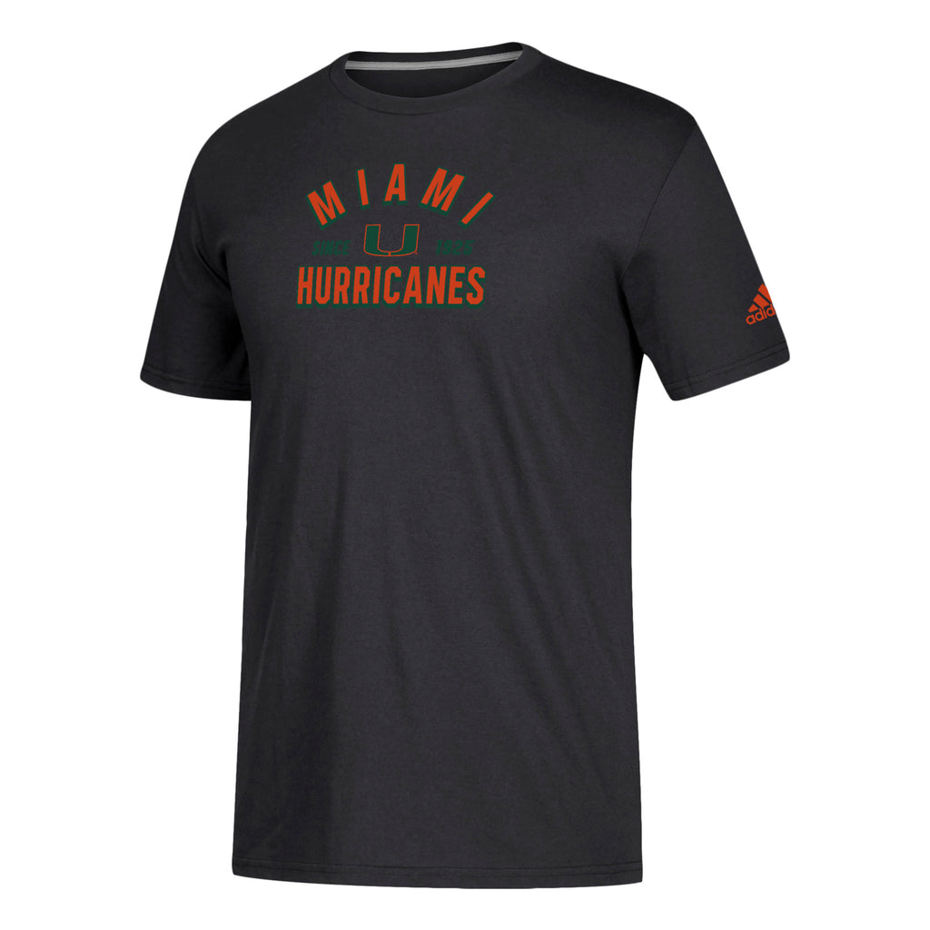 Miami Hurricanes adidas 2018 New Arch Go-To Performance T-Shirt - Black