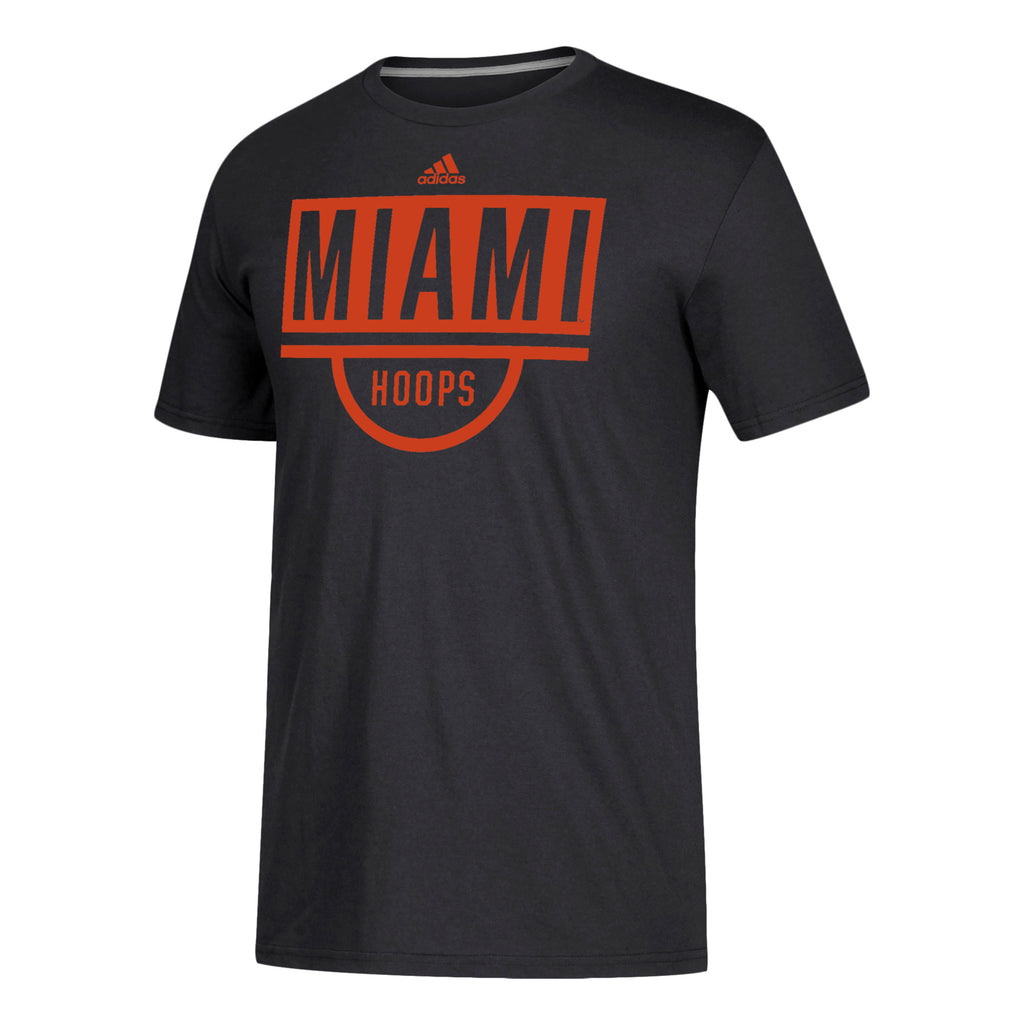 Miami Hurricanes adidas 2019 Basketball Practice Go-To T-Shirt - Black