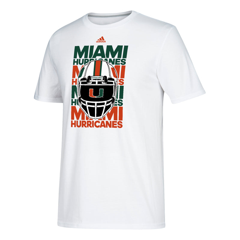 Miami Hurricanes adidas Helmet Go-To Performance T-Shirt - White