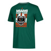 Miami Hurricanes adidas 2018 Helmet Go-To Performance T-Shirt - Green