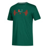 Miami Hurricanes adidas 2018 Performance Weightlifting T-Shirt - Green