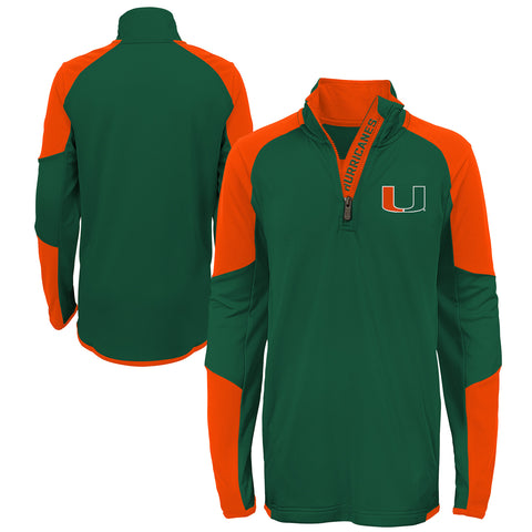 Miami Hurricanes adidas 2019 Youth Canes Watch T-Shirt - Green