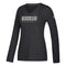 Miami Hurricanes adidas Women's Bar Flow Ultimate L/S T-Shirt - Black