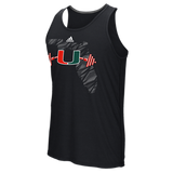 Miami Hurricanes Adidas Weightlifting Ultimate Tank Top - Black - CanesWear at Miami FanWear Men's T-Shirt Adidas CanesWear at Miami FanWear