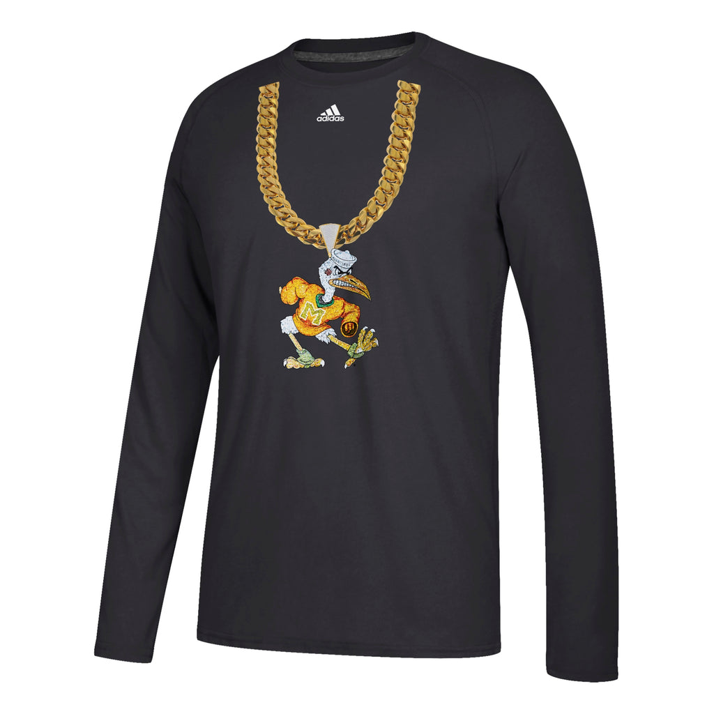 Miami Hurricanes adidas 2018 Sebastian Turnover Chain Long Sleeve T-Shirt - Black