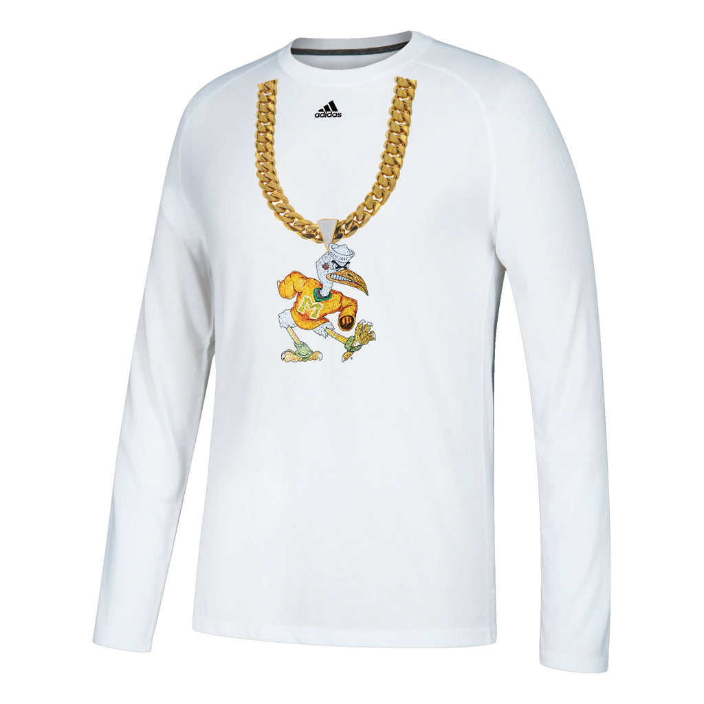 Miami Hurricanes adidas 2018 Sebastian Turnover Chain Long Sleeve T-Shirt - White