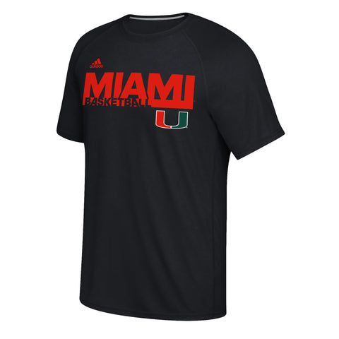 Miami Hurricanes adidas Youth Athletics L/S - Gray.