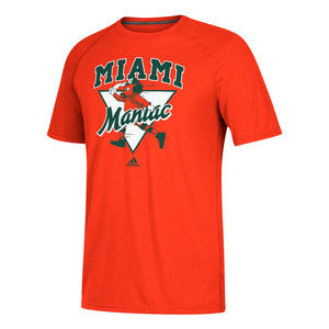 Miami Hurricanes adidas Miami Maniac Baseball Ultimate T-Shirt - Orange