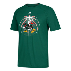 Miami Hurricanes adidas Basketball Ibis T-Shirt - Green