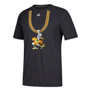 Miami Hurricanes adidas 2018 Men's Sebastian Turnover Chain T-Shirt - Black