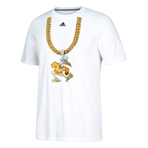 Miami Hurricanes adidas 2018 Youth Sebastian Turnover Chain T-Shirt - White