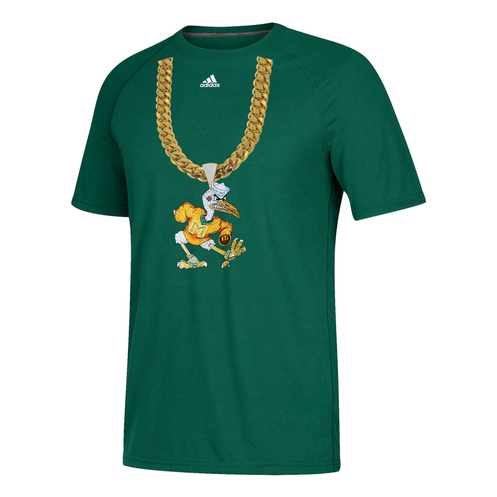 Miami Hurricanes adidas 2018 Men's Sebastian Turnover Chain T-Shirt - Green