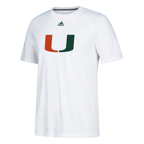 Miami Hurricanes adidas 2018 Sideline Lined Up S/S Ultimate Performance T-Shirt - Black