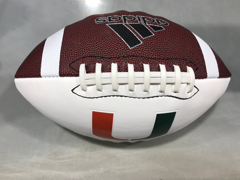 Miami Hurricanes adidas Autograph University Football - White