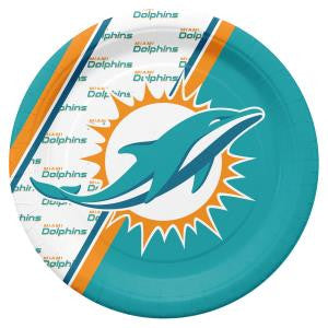 MIAMI DOLPHINS DISPOSABLE PAPER PLATE - 20 PK