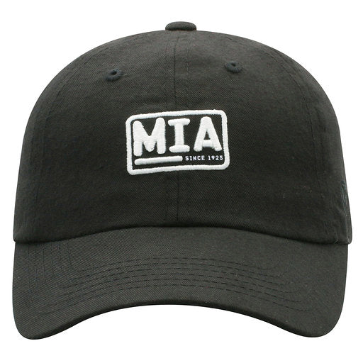 Miami Hurricanes Boradcast MIA Adjustable Hat- Black