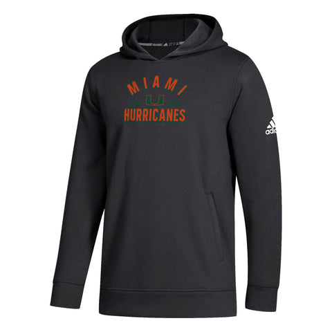 502fbf3b3791b Miami Hurricanes adidas 2018 NCAA Youth Fleece Hoodie - Black. $ 40.00. Miami  Hurricanes adidas Women's Yoga Capri Leggings Black