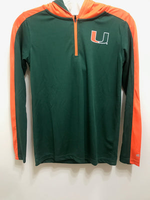 Miami Hurricanes Youth Heliskiing 1/4 Zip Hoodie