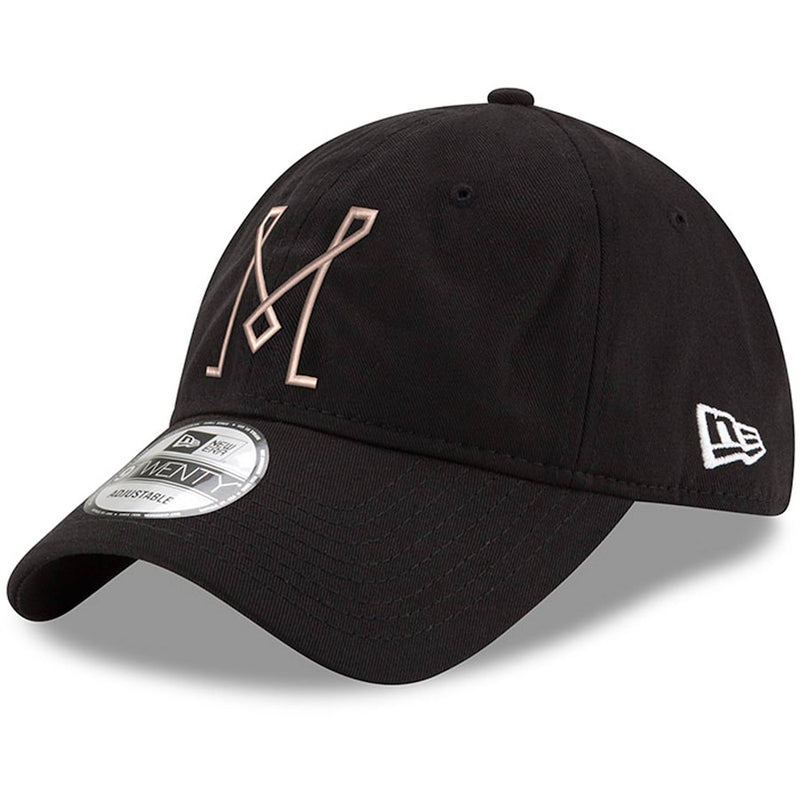 Inter Miami CF MLS New Era 9Twenty 'M' Logo Adjustable Hat - Black