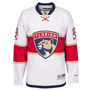 Florida Panthers Premier Jersey - White - CanesWear at Miami FanWear Men's Apparel Adidas Group CanesWear at Miami FanWear