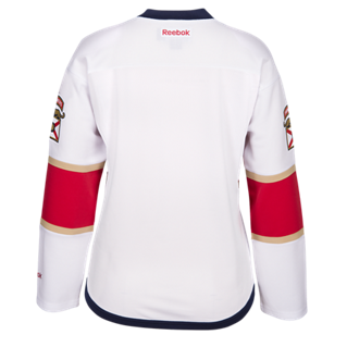 Florida Panthers Women's Edge Premier Jersey - White - CanesWear at Miami FanWear Women's Apparel Adidas Group CanesWear at Miami FanWear