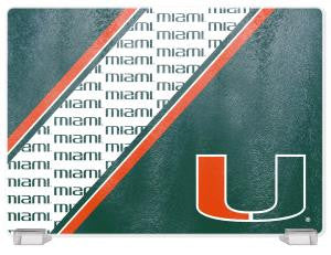 MIAMI HURRICANES TEMPERED GLASS CUTTING BOARD