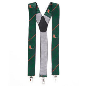 Miami Hurricanes EW Oxford Suspenders - CanesWear at Miami FanWear Accessories Eagles Wings CanesWear at Miami FanWear