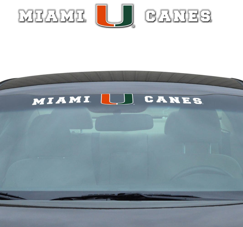 "MIAMI HURRICANES WINDSHIELD DECAL 35"" x 4"""