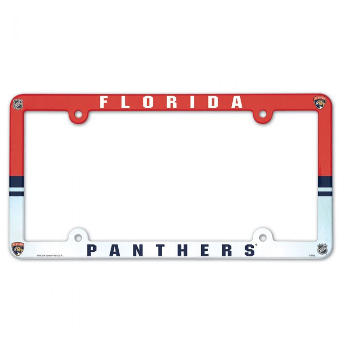 Florida Panthers Full Color License Plate Frame - Red/White