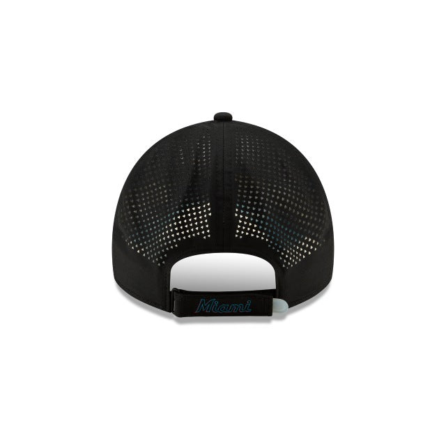Miami Marlins New Era 9Twenty Pivot Adjustable Hat - Black