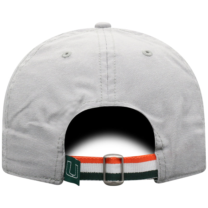 Miami Hurricanes Top of the World Ante Adjustable Light Grey