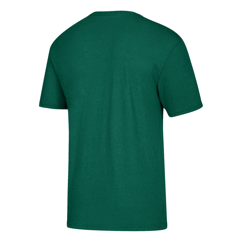 Miami Hurricanes adidas Team Helmet Tri-Blend T-Shirt - Green