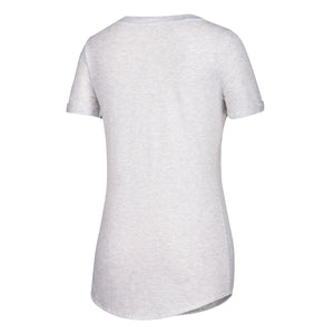 Miami Hurricanes adidas 2018 Women's Big Brush V-Neck T-Shirt - White Heather