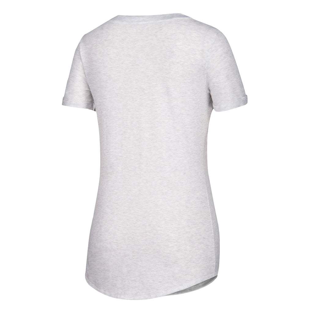Miami Hurricanes adidas 2018 Women's U Glitch V-Neck T-Shirt - White Heathered