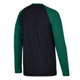 Miami Hurricanes adidas Raglan Miami U L/S T-Shirt - Black Heathered