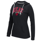 Miami Heat Adidas Women's Fleece Crewdie Hoodie - CanesWear at Miami FanWear Women's Apparel Adidas Group CanesWear at Miami FanWear