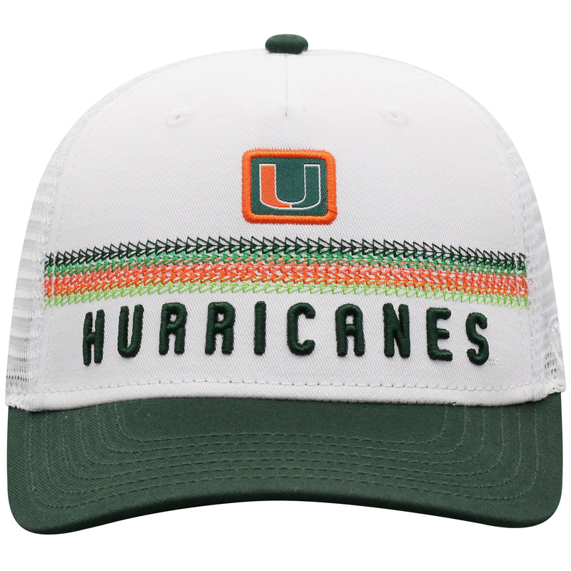 Miami Hurricanes Top of the World Bayswaters Adjustable - White